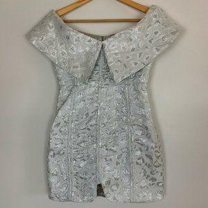 Matilda Womens Silver Regular Bodycon Dress 8